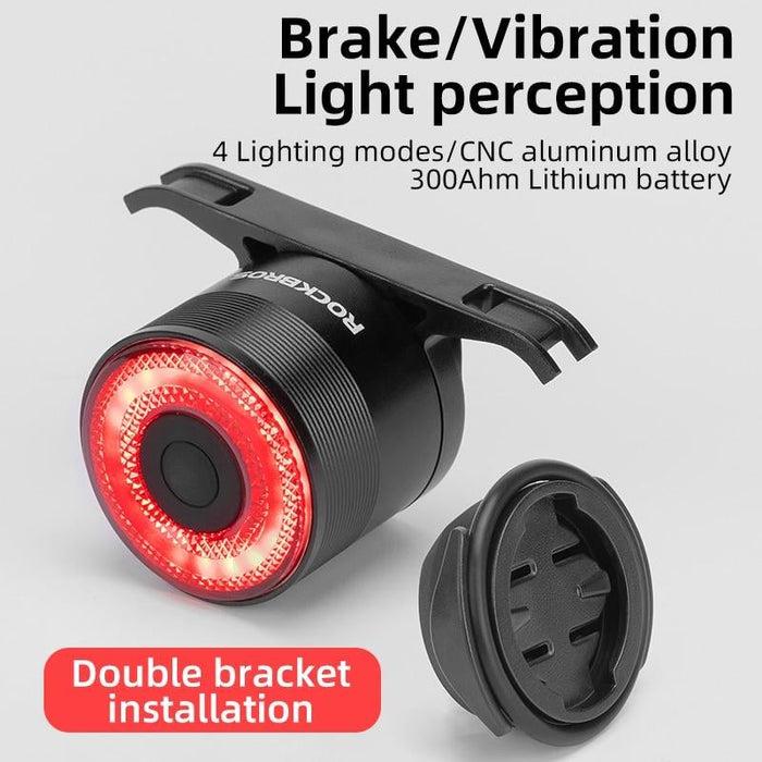 ROCKBROS Bicycle Rear Light USB Charging Safety Warning
