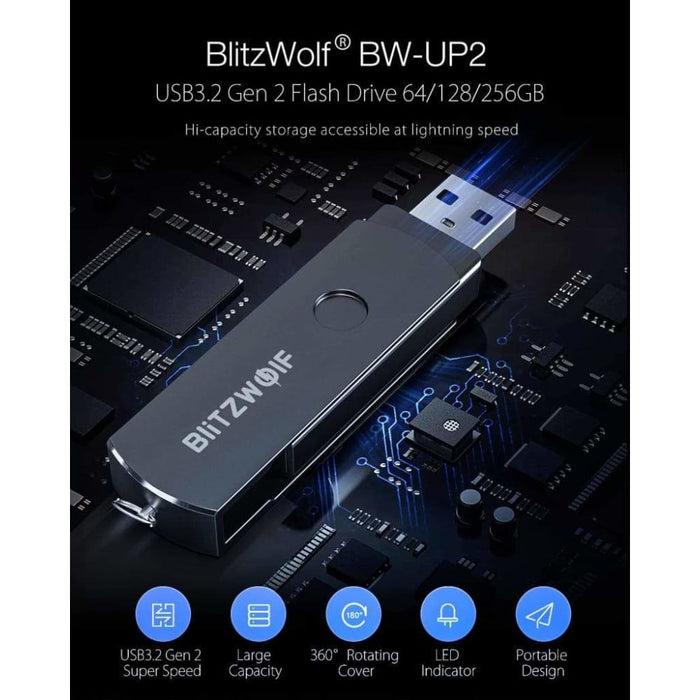 Usb3.2 Gen 2 Flash Drive 64/128/256gb Pendrive Portabel U