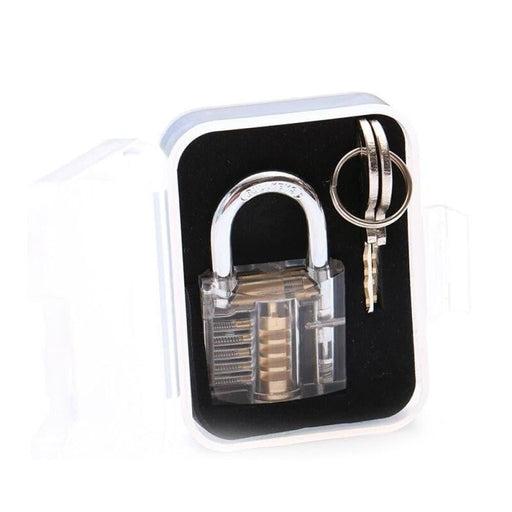 NAIERDI Locksmith Transparent Locks Pick Visible Cutaway Mini Practice View Padlock Hasps Training Skill For Furniture Hardware
