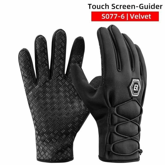 ROCKBROS Winter Cycling Full Finger Gloves Keep Warm Touch