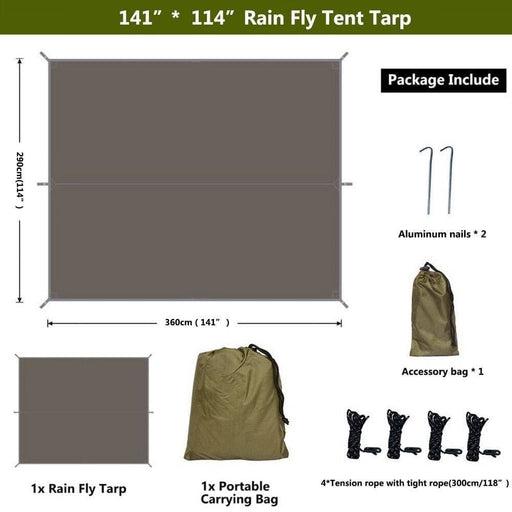 Waterproof Beach Sun Shelter Tarp Tent Shade Ultralight UV Garden Awning Canopy Sunshade Outdoor Camping Hammock Rain Fly