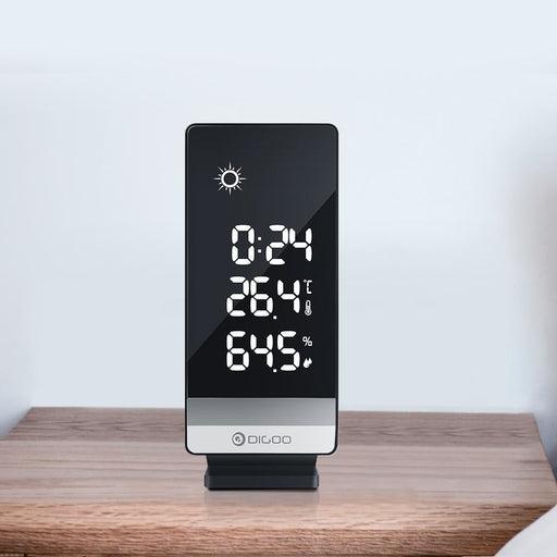 Digoo DG-TH11400 Weather Forecast 12/24 Hours Display  Indoor Outdoor Temperature Humidity Alarm Snooze Function Power Saving Clock