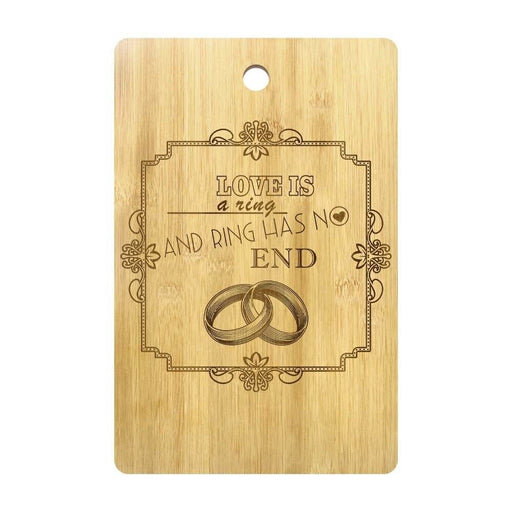 Wedding Rings Romantic Quote Personalized Wood Chopping Board Mr and Mrs Heart Beat Ring Cutting Board Couple Anniversary Gift