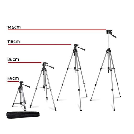 Weifeng 1.45m Professional Camera & Phone Tripod - Audio &