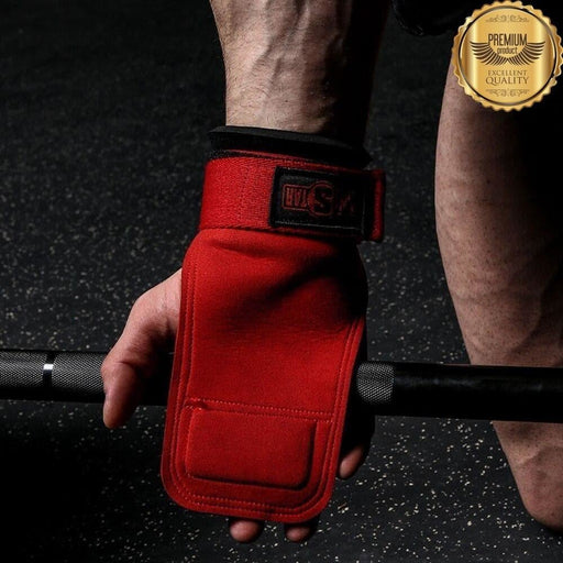 INNSTAR Weight Lifting Hand Grips Workout Pads Adjustable Wrist Support Wraps for Power Lifting Pull Up Dead-lifts Bodybuilding
