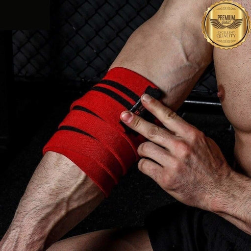 INNSTAR Weightlifting Elbow Support Wrap Adjustable Compression Strap Elastic Elbow Brace Protector Power-lifting Gym Fitness