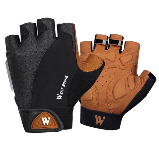 WEST BIKING Half Finger Cycling Gloves Breathable Anti Slip Anti-shock Bike Bicycle Motorcycle Sports Gloves for men women