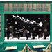 NEW Christmas Glass Window Stickers White City Snowman Santa