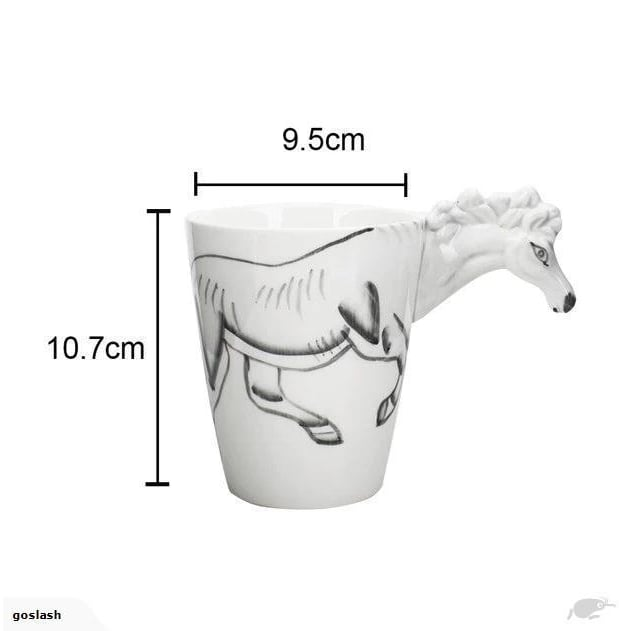 White Horse Ceramic Cup goslash fast delivery fast delivery