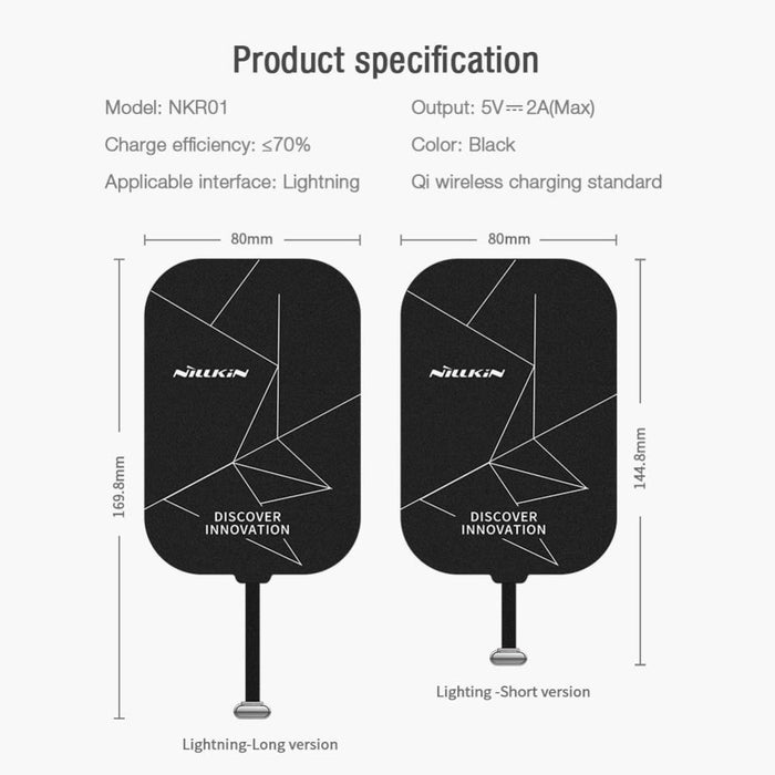 Wireless Charging Receiver Tag for Ipad 7.9/9.7/10.5/11 Inch