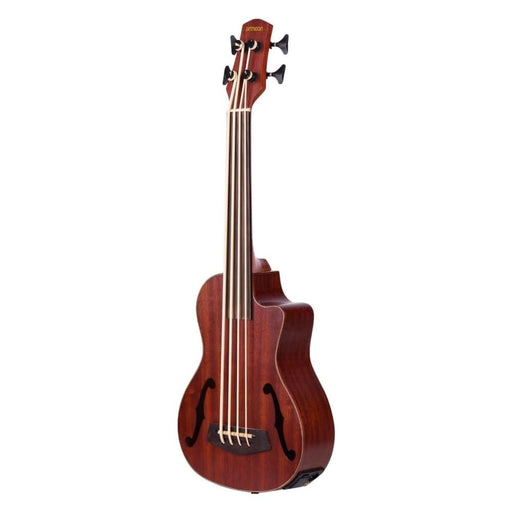 ammoon 30 Inch Cutaway U-Bass UBass Wooden Electric Acoustic Bass Ukulele Ukelele Built-in EQ Tuner with F Sound Holes