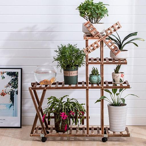 Wooden Plant Stand Garden Planter Flower Pots Stand Shelf Indoor Outdoor