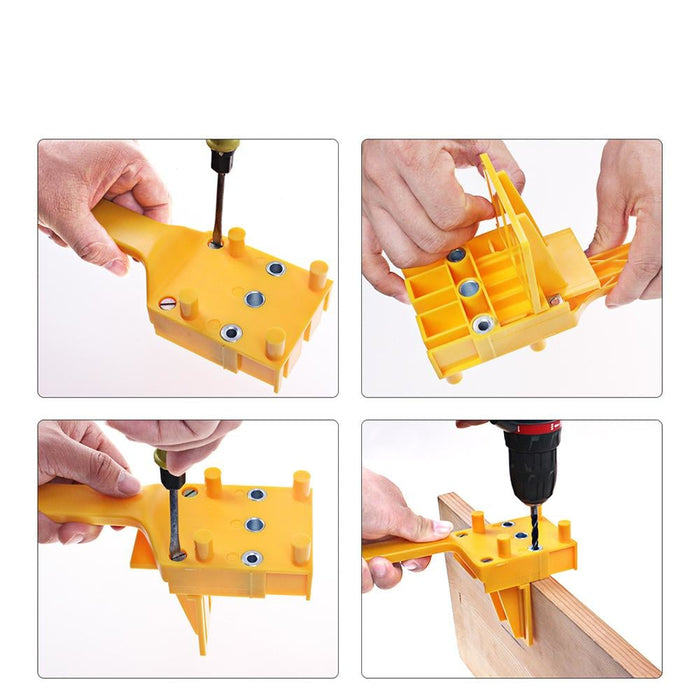 Drillpro Woodworking Dowel Jig 6 8 10mm Drill Guide Metal Sleeve Handheld Wood Doweling Hole Drill