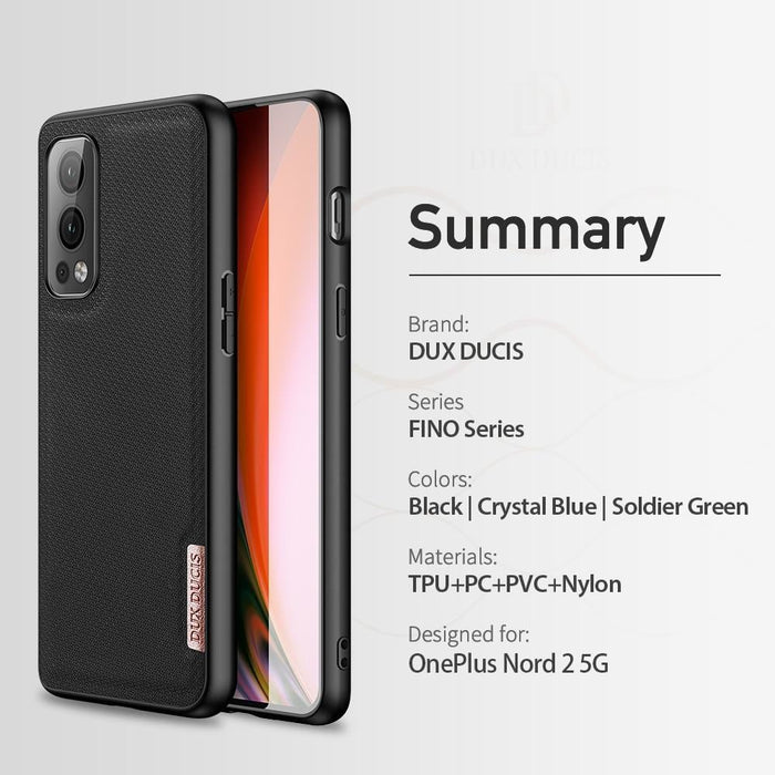 Woven Nylon Texture Silicone Back Cover for OnePlus Nord 2