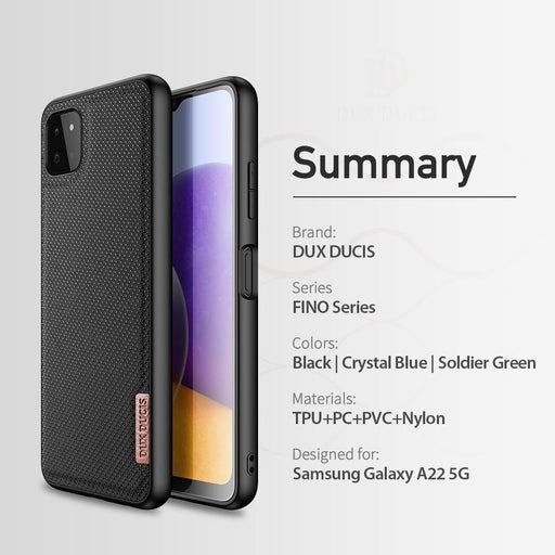 Woven Nylon Texture Silicone Back Cover for Samsung A22 5G