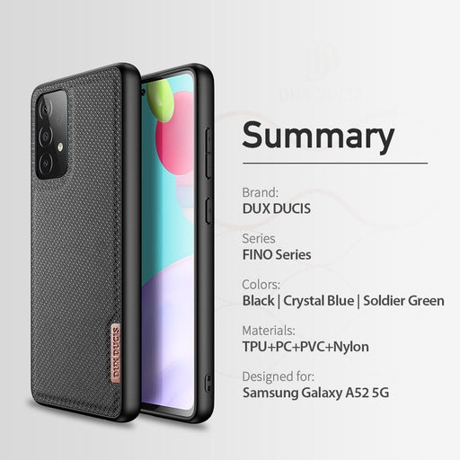 Woven Nylon Texture Silicone Back Cover for Samsung A52 5G