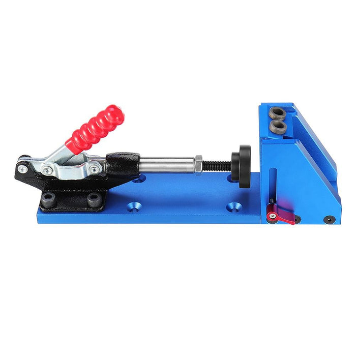 XK-2 Aluminum Alloy Pocket Hole Jig System Woodworking Drill Guide with Toggle Clamp 9.5mm Step Drill Bits
