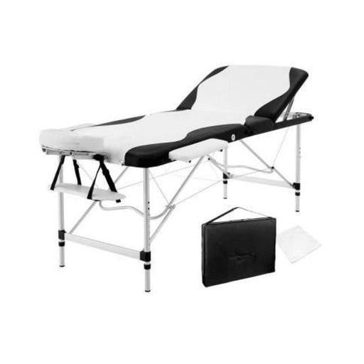 Zenses 3 Fold Portable Aluminium Massage Table - Black &
