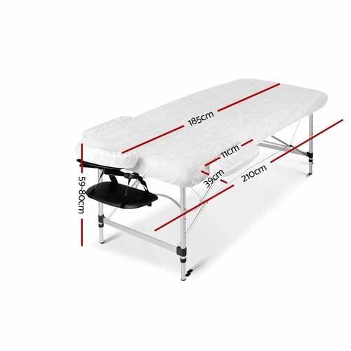 Zenses 3 Fold Portable Aluminium Massage Table - Green &