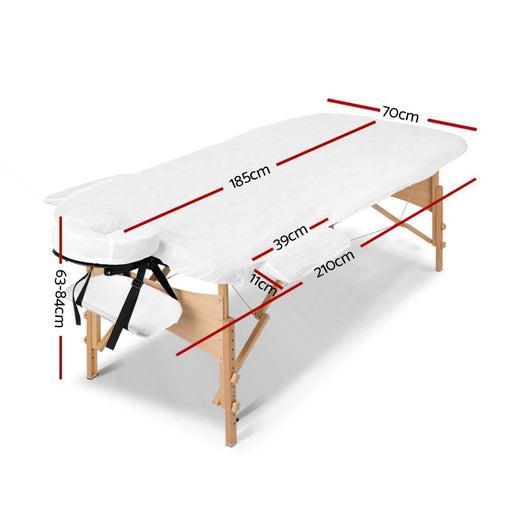 Zenses 3 Fold Portable Wood Massage Table - Black & Lime -