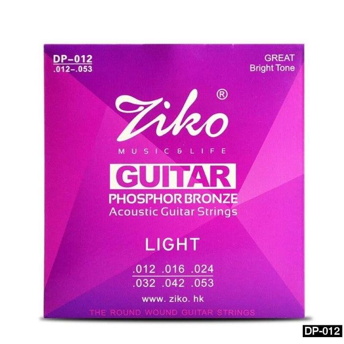 ZIKO 6Pcs/Set Acoustic Guitar Strings Hexagon Alloy Core Phosphor Bronze 6 Acoustic Guitar Strings (DP-010/DP-011/DP-012)