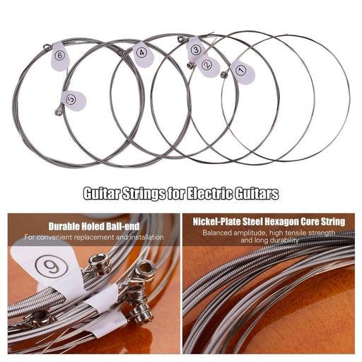 ZIKO 6Pcs/Set Electric Guitar Strings Nickel Wound Hexangon Alloy Core Extra Light DN 009-042 / DN 010-046 /DEG 009-042
