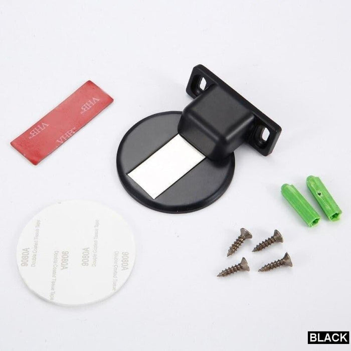 NAIERDI Zinc Alloy Door Stopper Magnetic Door Stops Hidden Door Holders Catch Floor Nail-free Doorstop Furniture Hardware