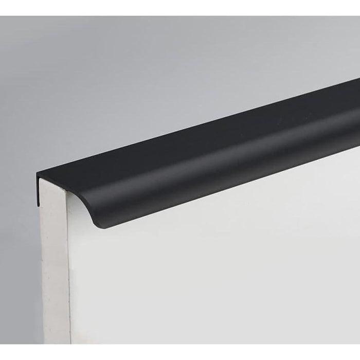 NAIERDI Zinc Alloy Kitchen Cupboard Pulls Black Silver Hidden Cabinet Handles Drawer Knobs Bedroom Door Furniture Handle