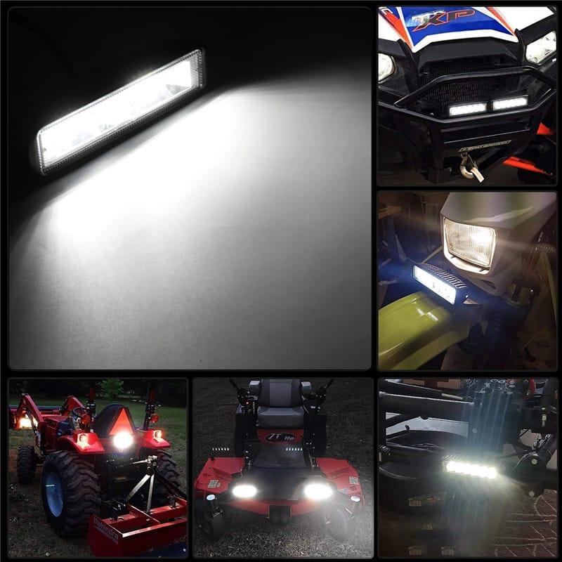 6 Inch 48w 16led Car Work Light Flood Beam Bar Suv Offroad