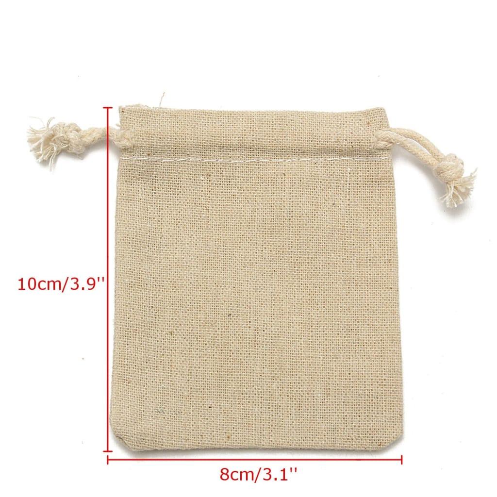 Natural Linen Pouch Burlap Jute Sack Jewelry Pouch - 30pcs