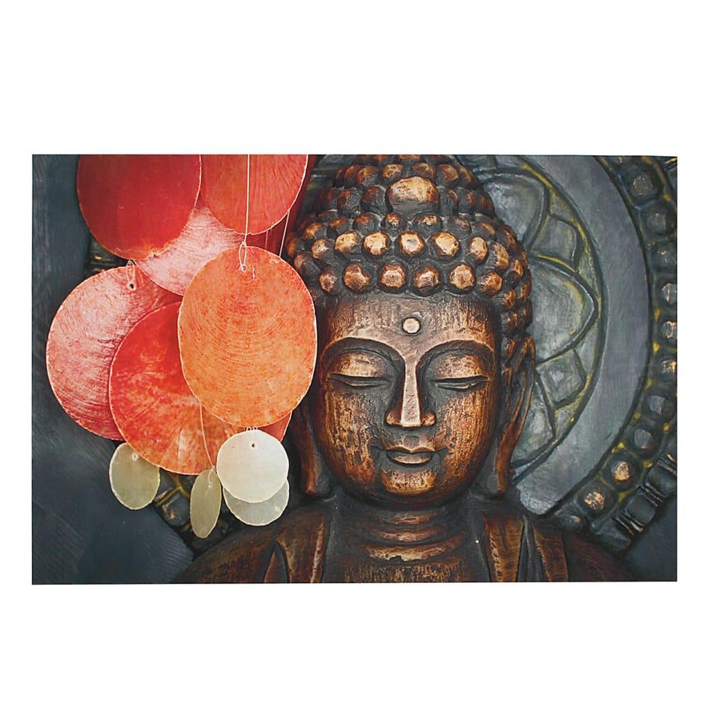 Hd Statue Buddha Meditation Painting Print on Cambric