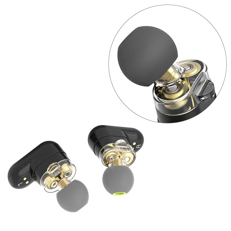 Dual Dynamic Wireless Bluetooth 5.0 Earphones Left right Two