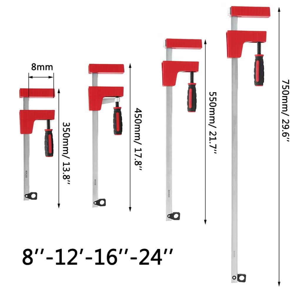 8/12/16/24 Inch F Parallel Clamp Heavy Duty 80mm Depth F