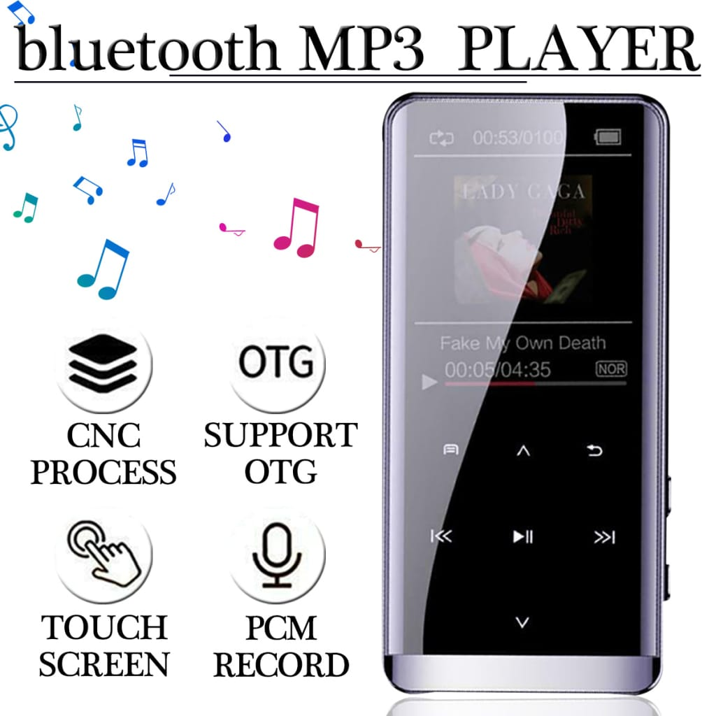 Bluetooth Lossless Mp3 Player Mp4 Audio Video Music Player -