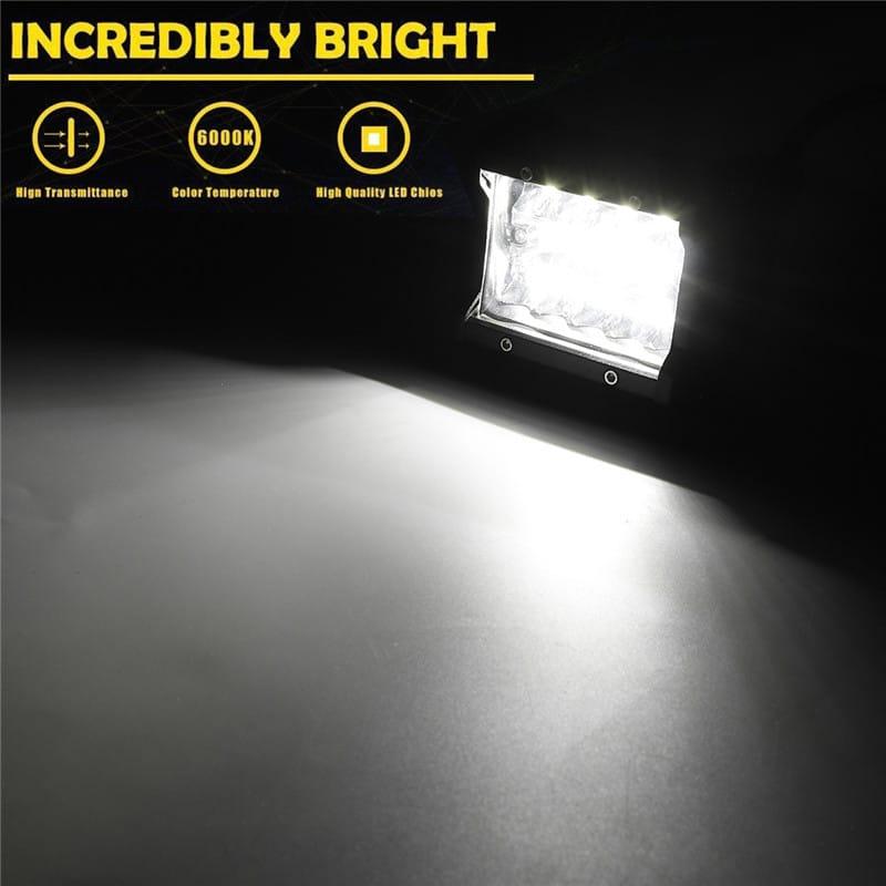 4inch 60w 2400lm Tri-row Led Work Light Bar Combo Fog