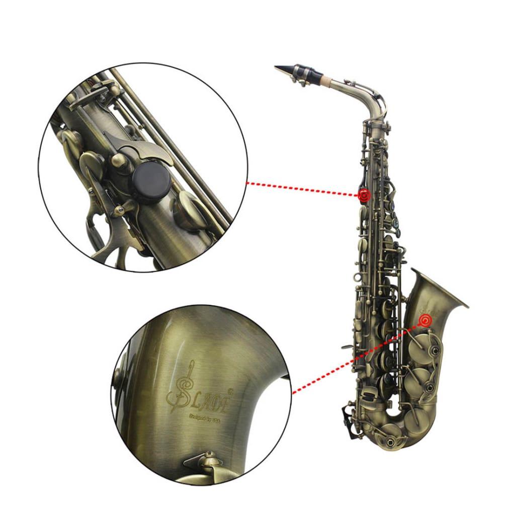 Slade High Grade Antique Eb E-flat Alto Saxophone Sax