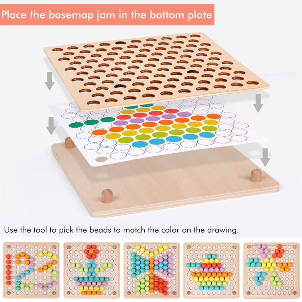 Kids Early Learning Educational Color Sorting Wooden Toys