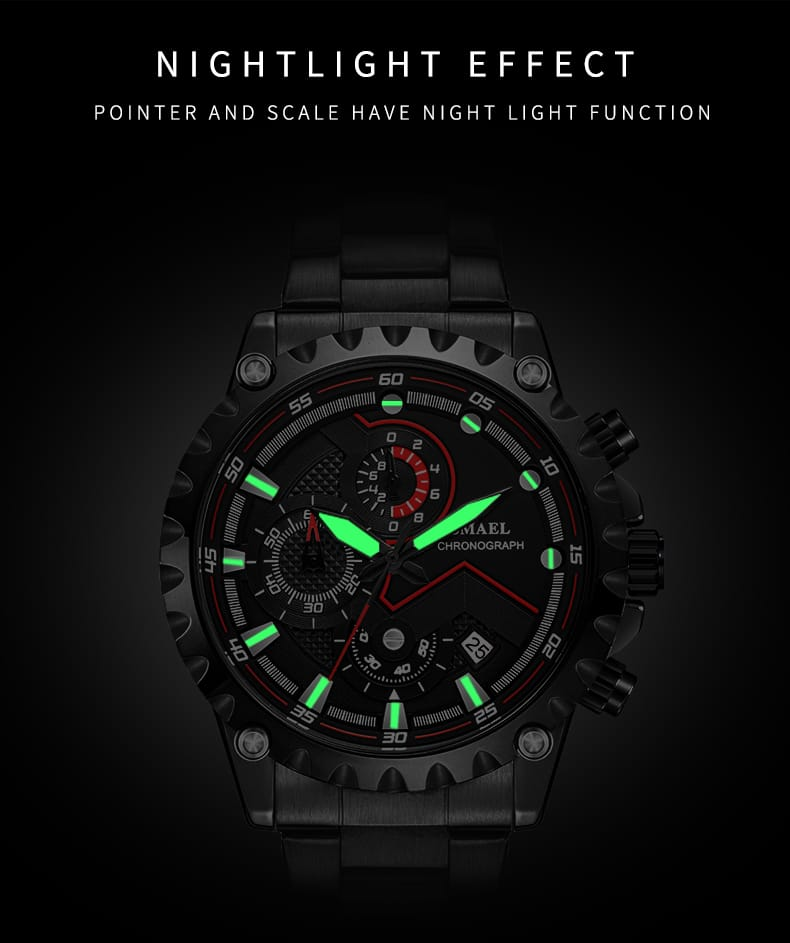 Men's Business Wrist Watch with Night Light Dial - 5 Colours