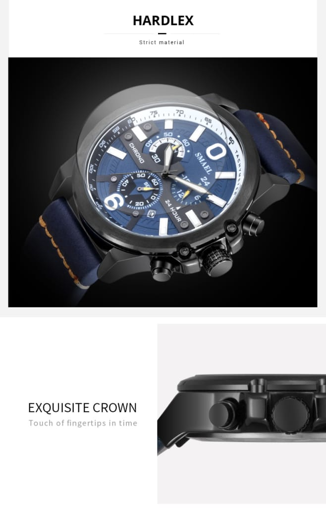 6 in 1 Men's Automatic Wrist Watch - 5 Colours