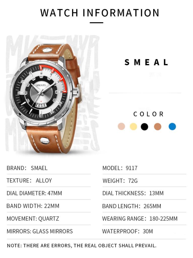 30m Waterproof Men's Casual Wrist Watch - 5 Colours