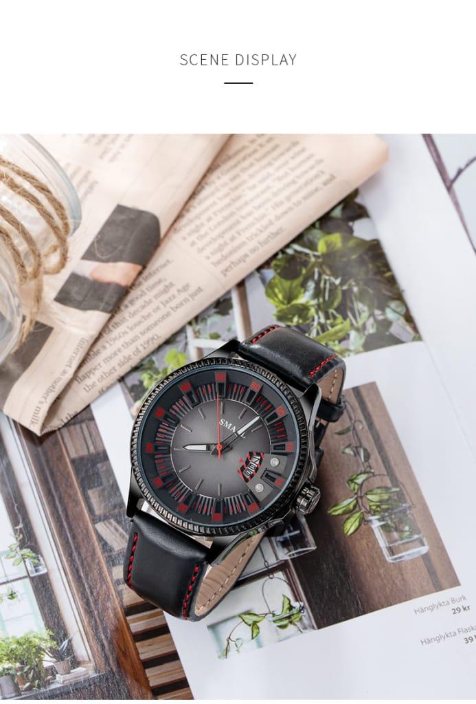 30m Waterproof Men's Sport Leather Casual Wrist Watch - 5