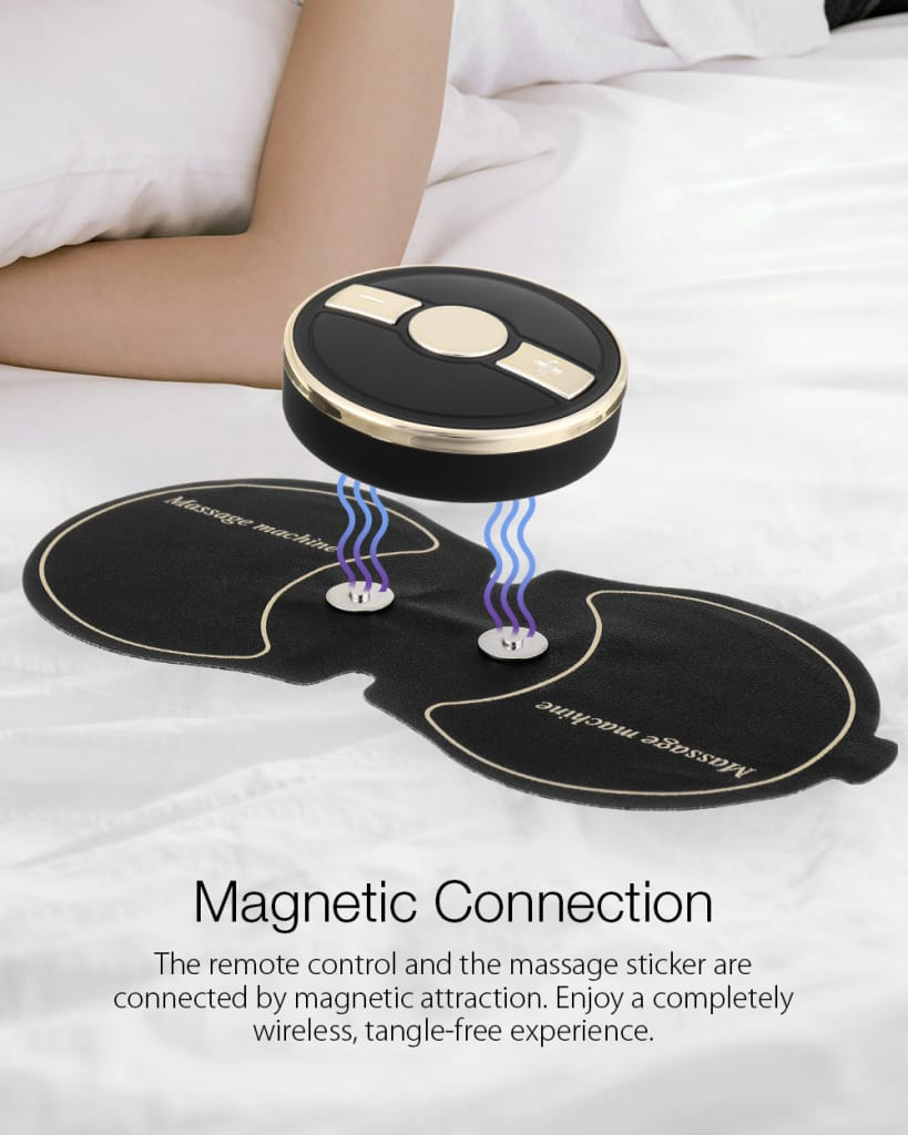 Gold Frame 6 Modes Electronic High-frequency Pulse Massager