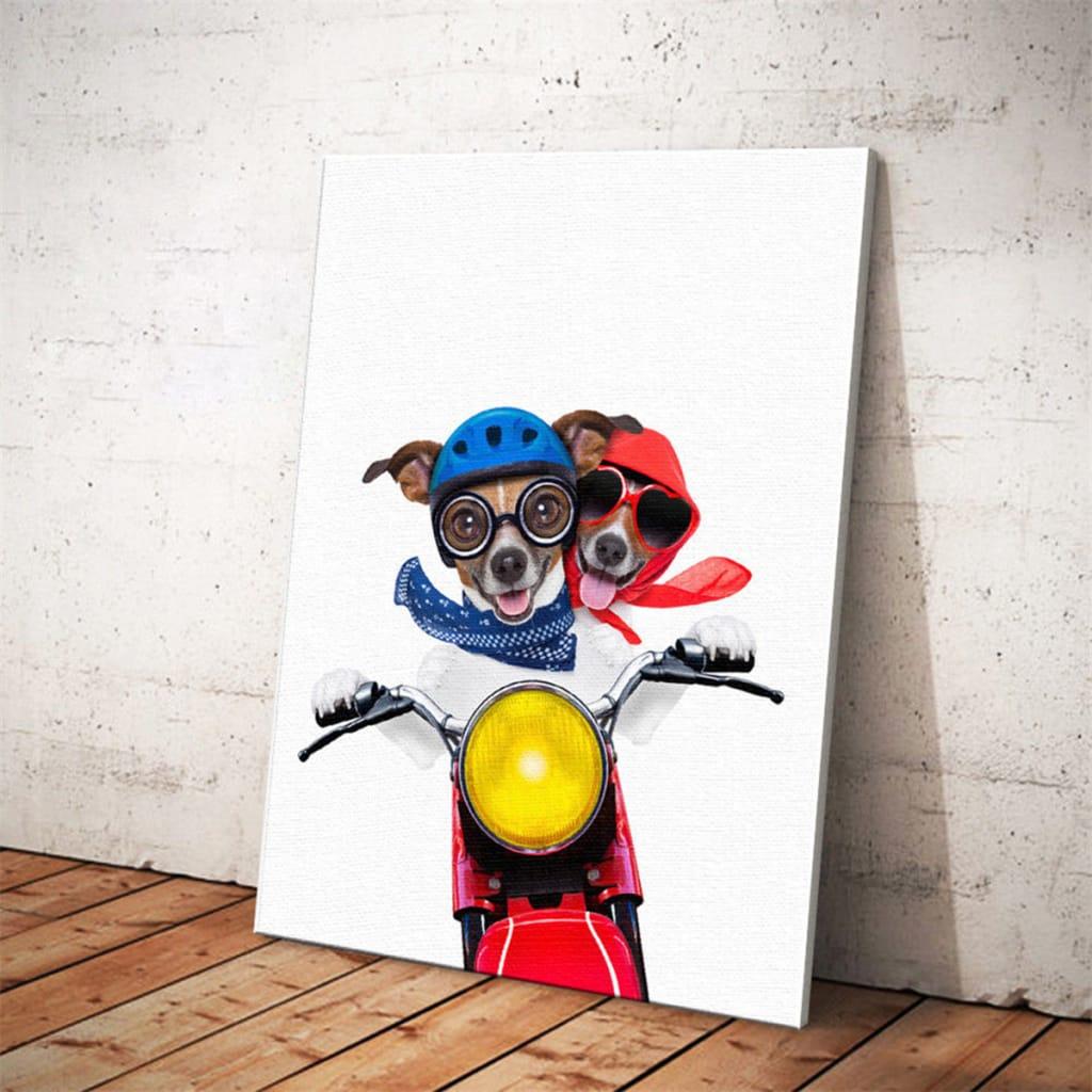 Cute Dog Art Wall Sticker Print Poster Modern Painting