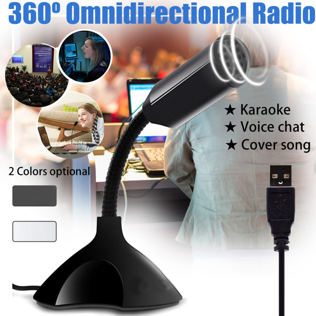 Usb Flexible Desktop Studio Microphone Speech Skype Mic for
