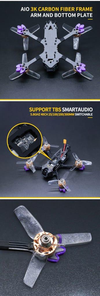 Fpv Racing Drone Pnp Caddx Turtle V2 1080p 60fps Hd Camera