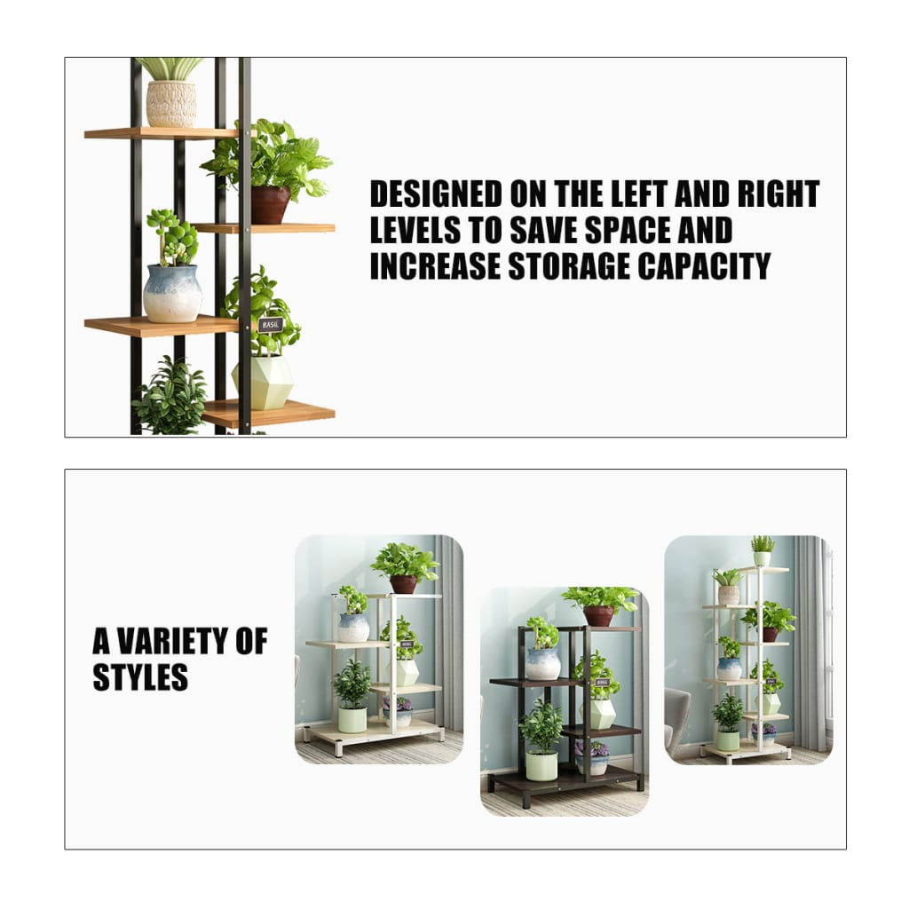 Metal Flower Pot Organiser Shelf Display Rack - Size and