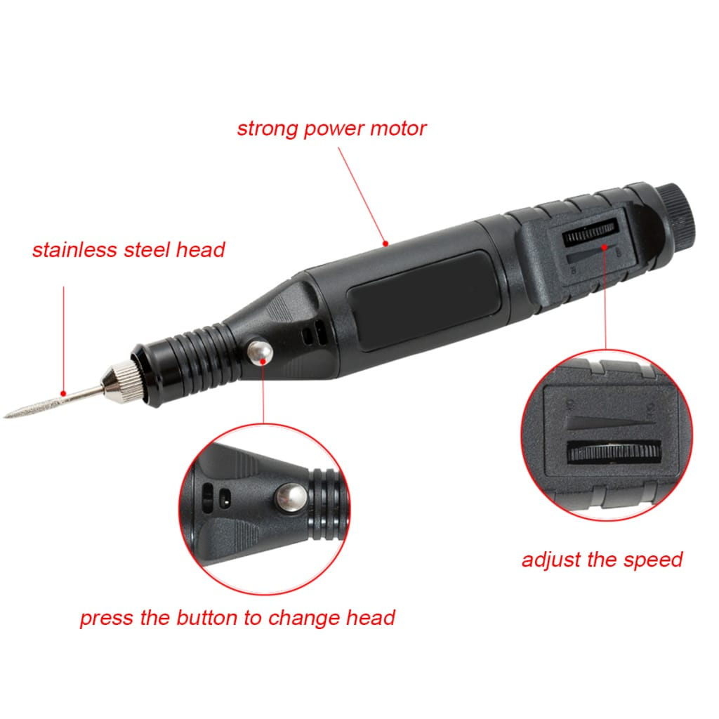 Electric Nail Polisher Pen-type Foot Grinder Nail Drill