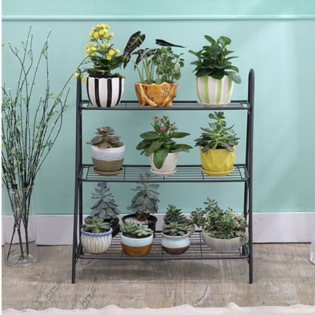 3 Layer Iron Succulent Flower Pots Plant Stand Display