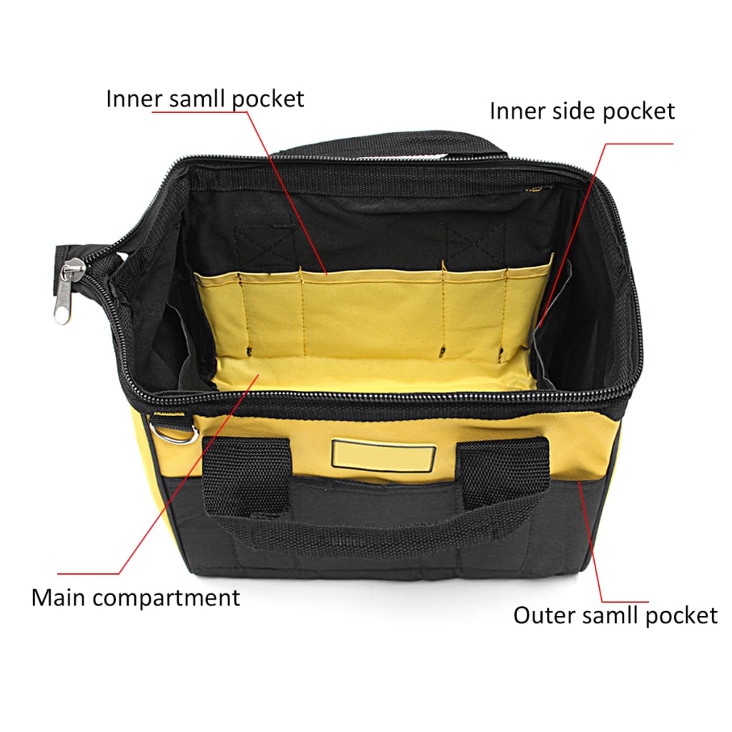 Zipper Electrician Repair Tool Bag Waist Storage Drill