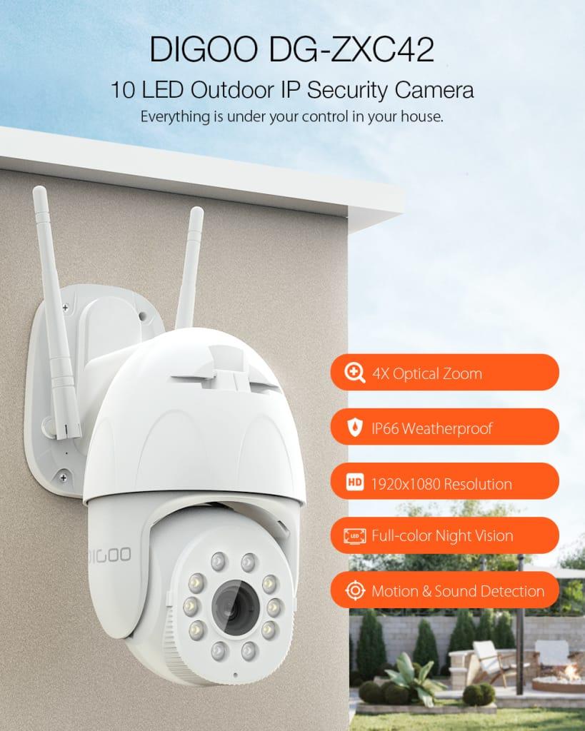 4x Optical Zoom 10 Ledsmart Speed Dome Camera 1080p Ip66 Cam